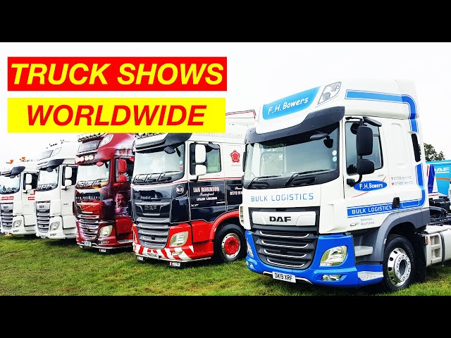 HGV TRUCKS from TRUCK SHOWS around the World