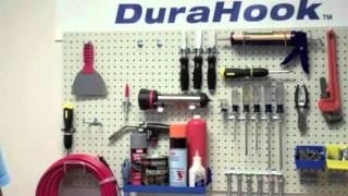 Garage Pegboard:  Spring Clips Locking Technology