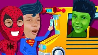 Superhero Wheels on the Bus Song | Nursery Rhymes for kids