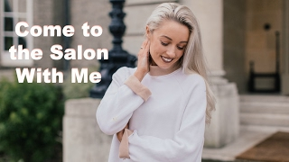 COME TO THE SALON WITH ME   |   Keeping Coloured Blonde Hair healthy & soft!  |  Fashion Mumblr AD