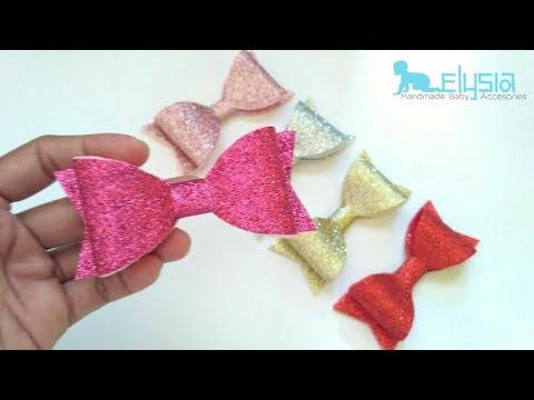 make glitter hair bow