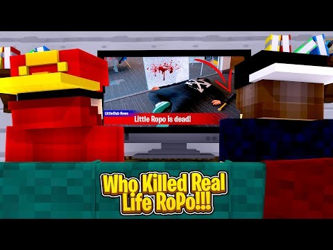 Minecraft Murder Mystery - WHO KILLED ROPO IN REAL LIFE?!