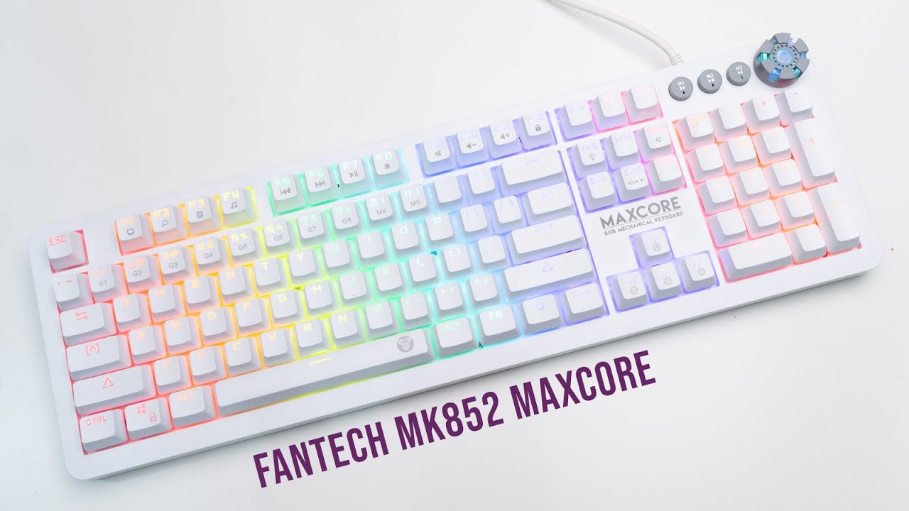 Fantech MK852 Maxcore Review | White Space Edition Gaming Keyboard
