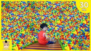 Indoor Playground Fun for Kids and Family Play Slide and More Colors Rainbow Balls| MariAndKids Toys