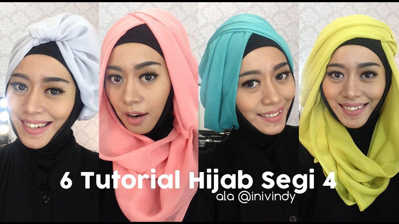 6 Tutorial Hijab Segi Empat Praktis Bahan Paris Bahasa Jawa