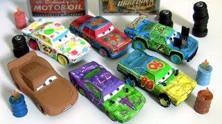 6 Cars 3 Demo Derby Collection Synthetic Rubber Tires DieCast Collection Disney Pixar Car toys