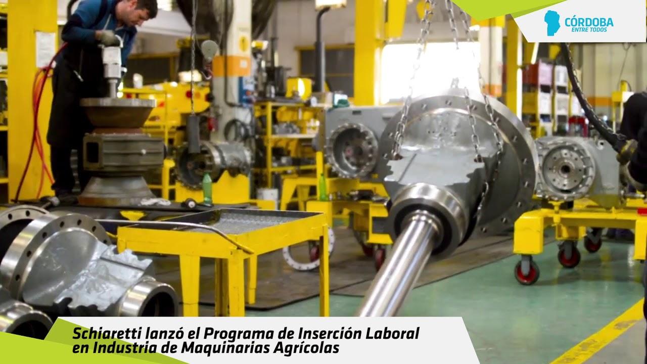 Schiaretti lanzó el Programa de Inserción Laboral en Industria de Maquinarias Agrícolas
