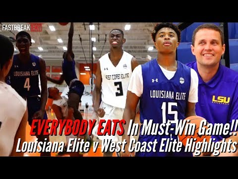 EVERYBODY EATS In Must-Win Game!! Louisiana Elite v West Coast Elite Highlights