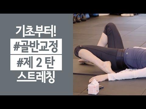 골반교정 허리통증을 위한 스트레칭 #2