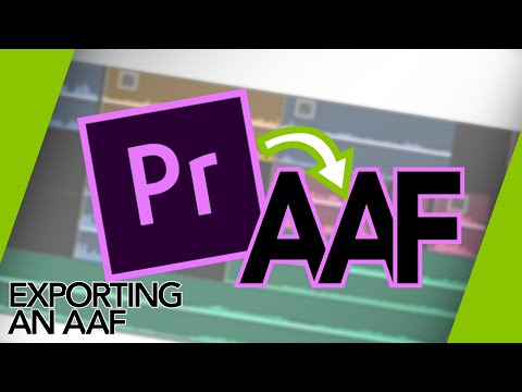 Exporting an AAF