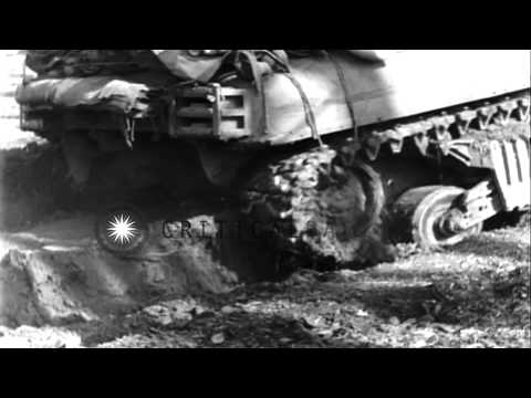 American armor and infantry in Germany, near end of World War II, in Europe HD Stock Footage