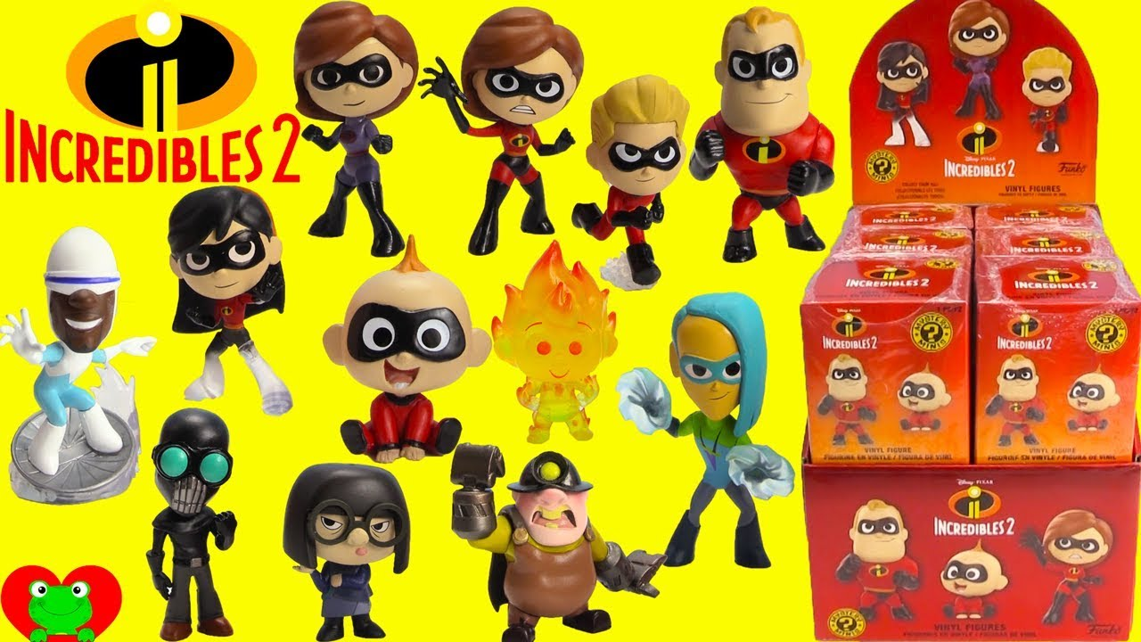 6236b9ca8b0 The Incredibles 2 Movie Funko Mystery Minis Full Set - YouTube