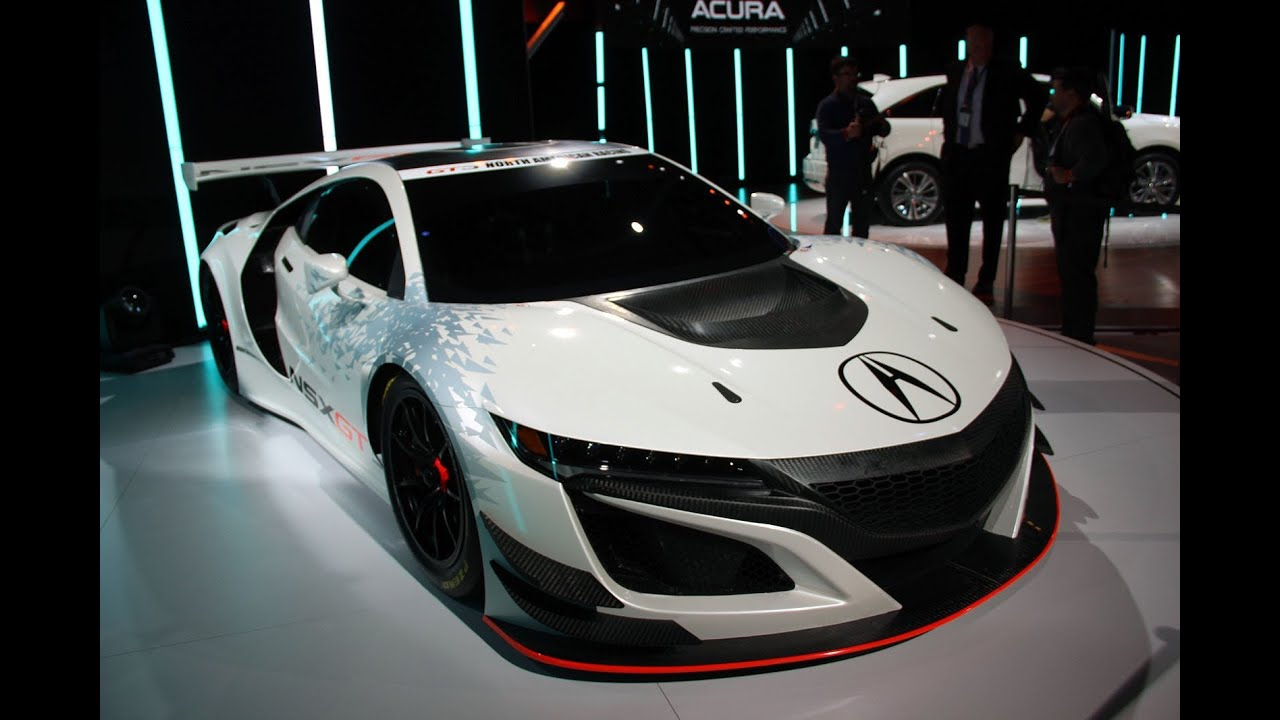 2017 Acura NSX GT3 First Look - 2016 New York Auto Show - YouTube