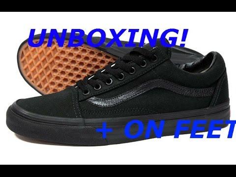 UNBOXING VANS OLD SKOOL BLACKBLACK + on feet   Deakin Snelling