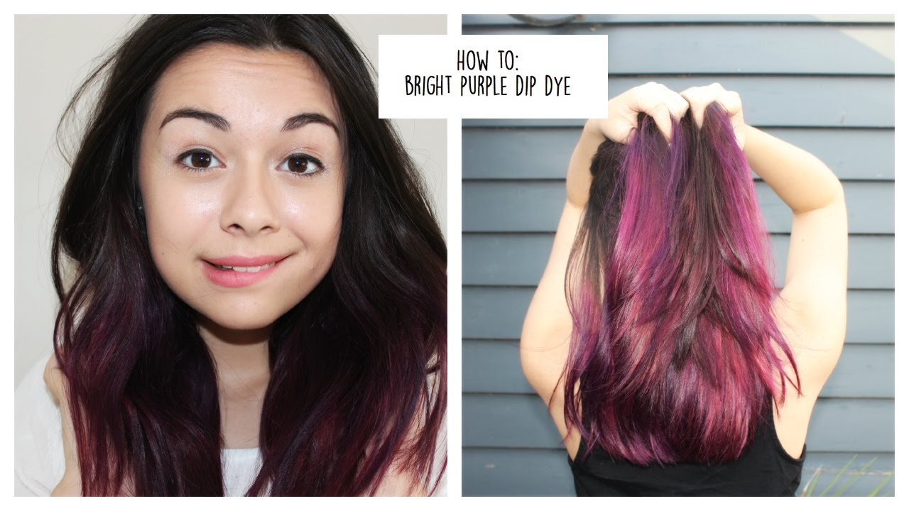 Watch - Hair Purple dye for dark hair video