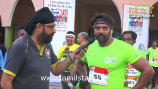 Actor Arya Flagging 2nd Edition Of Run For Education