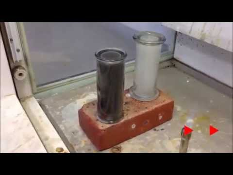 Reacting alkali metals with chlorine