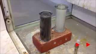 Reacting alkali metals with chlorine