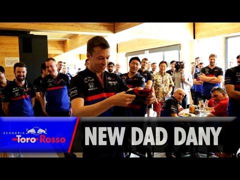 Daddy Daniil Kvyat's Surprise Gift!