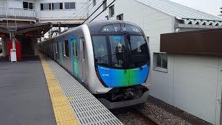 西武40000系 40106F 東伏見駅到着&発車 '18.08.02