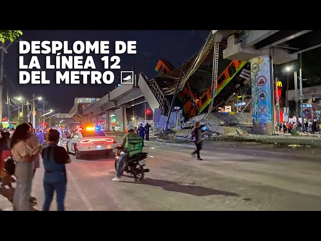 Se desploma tren de Línea 12 del Metro