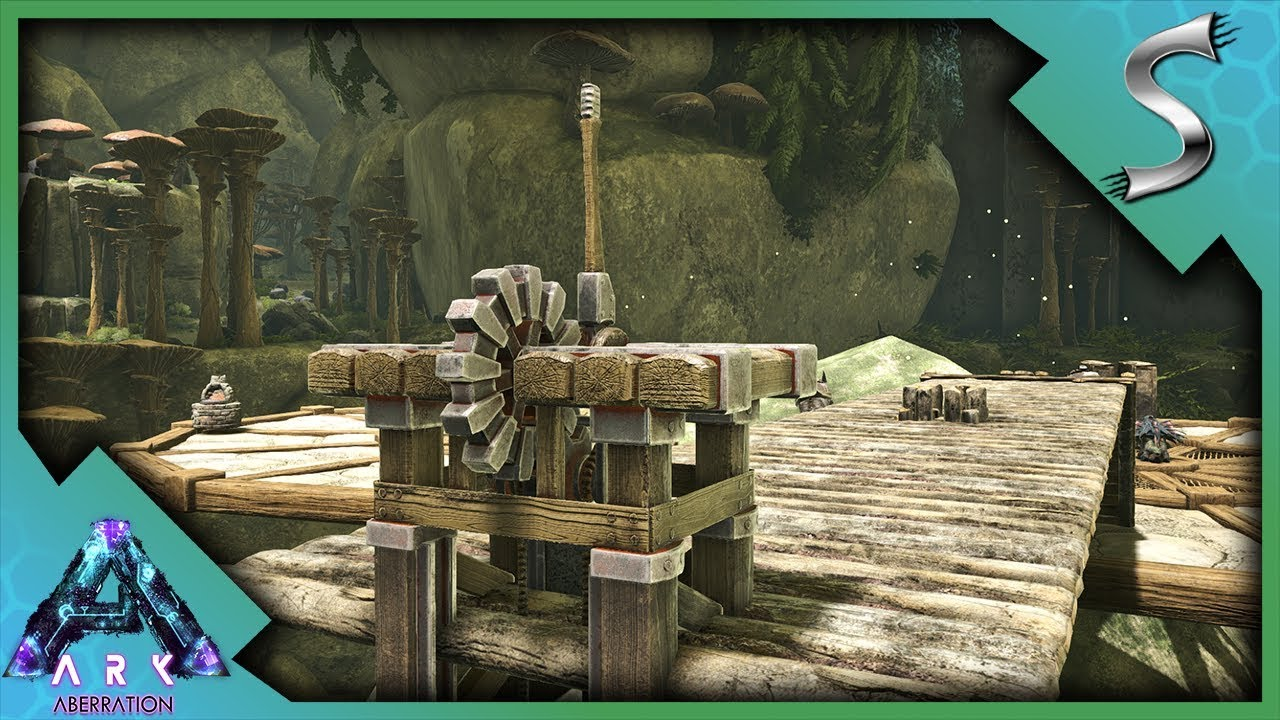 Ark Wood Elevator journey to the new base location! cliff platforms & wooden elevator! - ark:  aberration [gameplay e5]