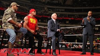 Hulk Hogan, Ric Flair and Shawn Michaels participate in a Royal Rumble WWE Legends Panel: Raw, Janua