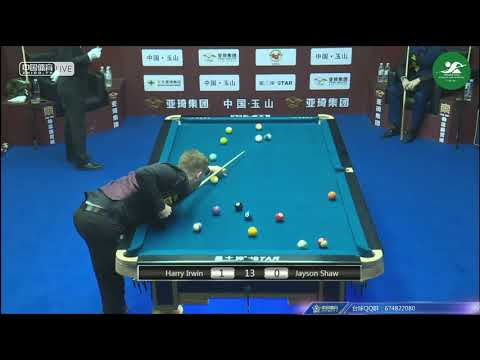 Harry Irwin (GBR) VS Jayson Shaw (GBR) - Mens Qualifying - Chinese Pool World Championship