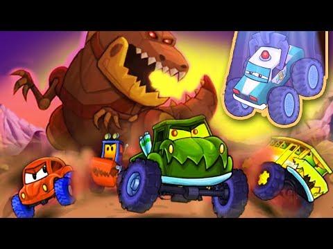 Трейлер! Новая игра Хищные Машины 4 Гонки, монстр траки и Боссы со всех частей Машина Ест Машину
