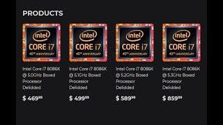 สรุปข่าว! ความพิเศษและราคา Core i7-8086K Limited Editionม, ASUS ลดราคา FX503VM สุดว้าวจงรีบซื้อ:WK26