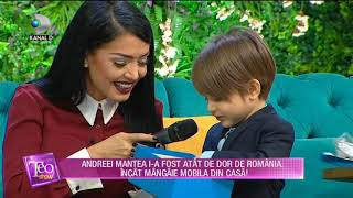 Teo Show(23.01.)-David si Andreea Mantea, in vizita in Romania! David, suparat ca primeste bataie!