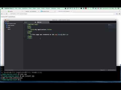 Node.js, Express, and Azure