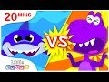 Sharks vs Dinosaurs, Who is Better? Princess Songs, No No Swimming at the Pool by Little Angel