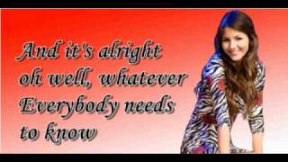 Victoria Justice - You're The Reason+Lyrics