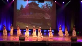 Mihika & her friends performing Kalavanikal Padi dance - KAGW_KCS Onam 2013