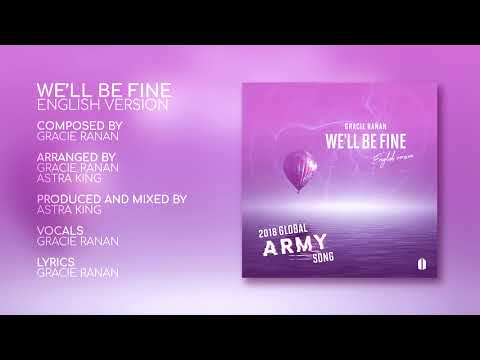 """Global ARMY Song For BTS - """"We'll Be Fine"""" English Version By Gracie Ranan (2018)Lyrics In Descript."""
