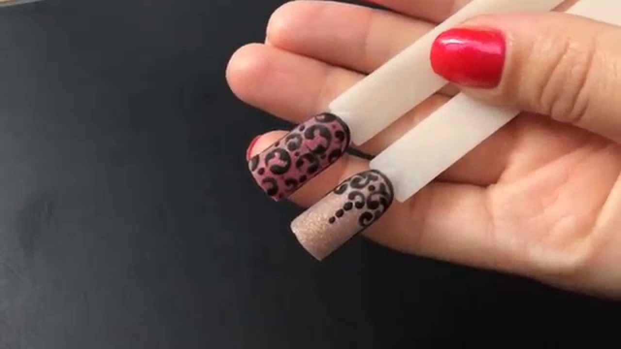 рисунки на ногтях фото вензеля