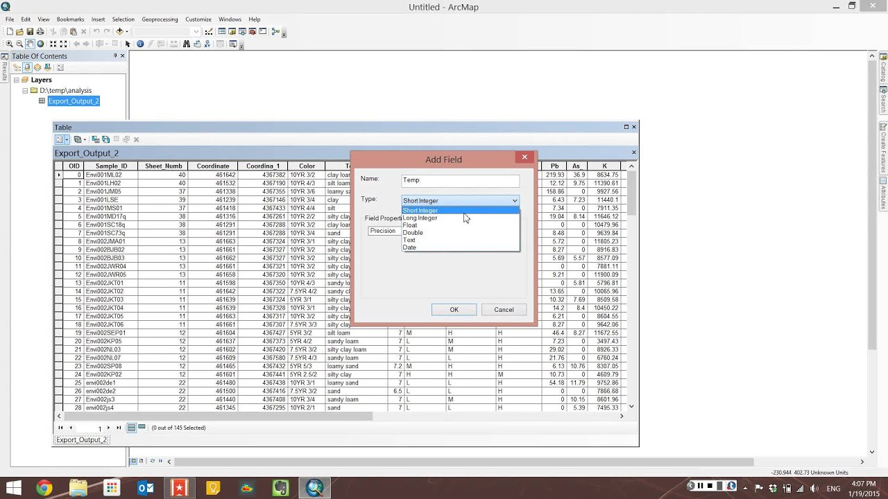 HowTo ArcMap - Add a field to a table attribute table (Mon, Jan 19, 04 05  PM)