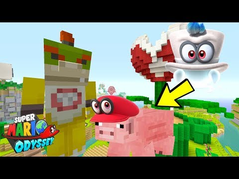 Minecraft Switch - Nintendo Fun House - SUPER BOWSER JR OYDSSEY! [CAPPY] [181]