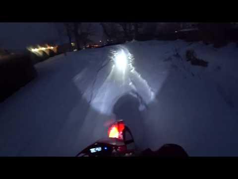 Тест светодиодного модуля с алиэкспресс на мотоцикле