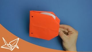 filing sleeve for CD's - Origami Instructions