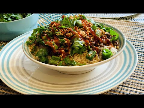 recette-à-la-viande-hachée-en-15-minutes,-boeuf-haché-à-coréenne