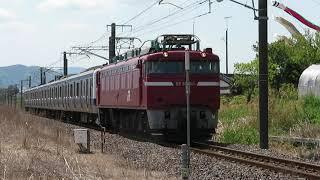 常磐線 EF81 140牽引 E531系K468編成 配9429レ 青森出場配給(AM出場) 友部~内原 第三小原踏切 通過 2021.04.27