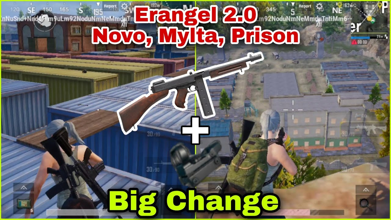 😍 Erangel 2.0 New Changes In Novo, Mylta, Prison | Use Thompson With Red Dot & Holo