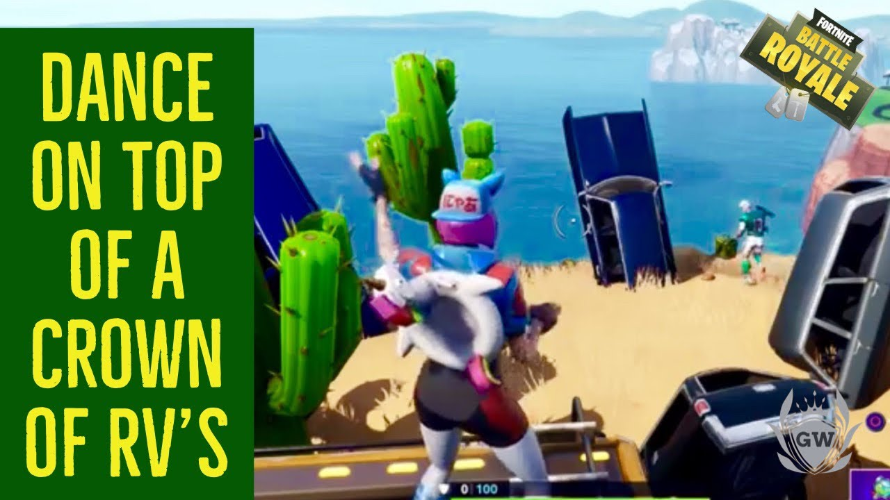 Dance On Top Of A Crown Of Rv S Location Week 1 Challenges Fortnite