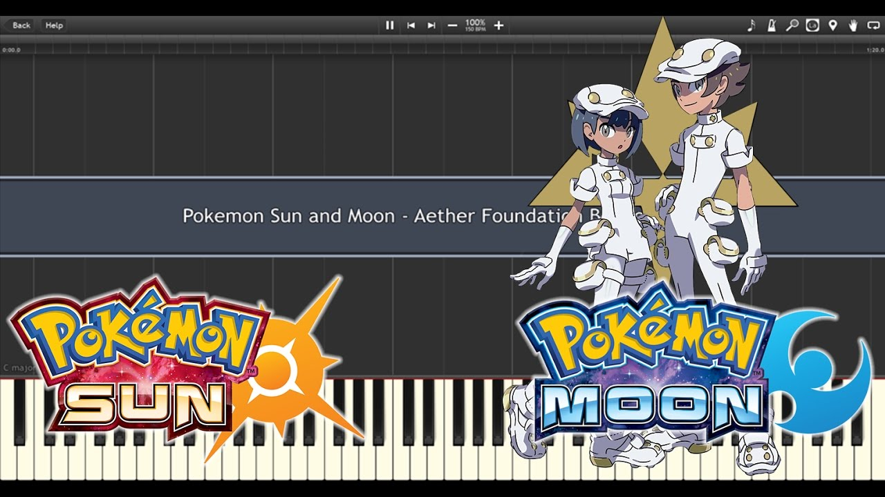 Pokemon Sun & Moon - Aether Foundation Battle Music (Piano Synthesia