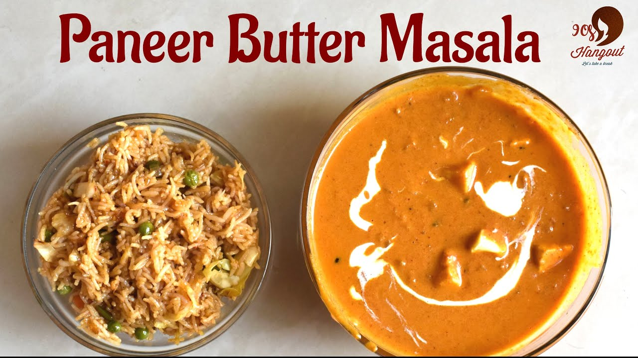 Paneer Butter Masala in Tamil l பன்னீர் பட்டர் மசாலா தமிழ் l Side Dish For Naan & Fried rice