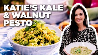 How to Make Kale and Walnut Pesto Pasta with Katie Lee | Food Network