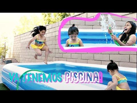 TIENEN NUEVA PISCINA PARA EL VERANO | COMO LA MONTARON  | LAS NIÑAS EMOCIONADAS!!