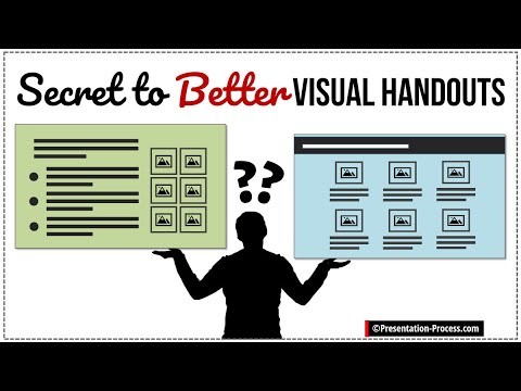 Secret To Better Visual Handouts For Presentations